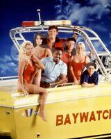 Baywatch (TV) Pamela Anderson, Alexandra Paul, David Hasselhoff 10x8 Photo
