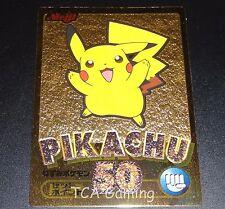 Pikachu MEIJI Chocolate GOLD Embossed Promo Japanese Pokemon Card NEAR MINT