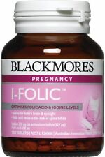 Blackmores I-Folic Optimises Folic Acid Iodine Levels for Pregnancy 150 Tablets