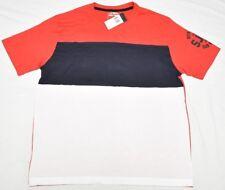 $36 NWT Mens Sean John T-Shirt Colorblock Tee Red White Navy Urban Size XL N715