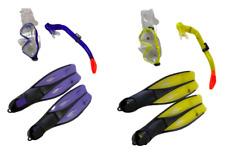 Schnorchel-Set Tauchermaske Schnorchel Taucherflossen Kinder Erwachsene