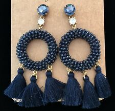 Sold Out! Nwt New$58 Dark Harbor💙 J Crew Stone and Tassel Earrings!