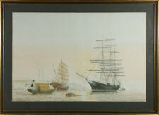 Peter Wall - 20th Century Watercolour, The Cutty Sark In Shanghai