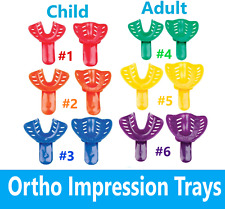 Dental Ortho Impression Trays Perforated Disposable For Childpedo Adult 12bag