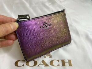 Coach Hologram Key Pouch Zip Mini Pouch 64945 NWT Purples 1st Edition