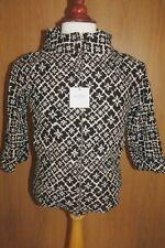 Vintage Moschino Ladies Short Canvas Jacket Coat Black/White - UK 8 BNWT