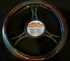Superior 58-0910 Sport Grip Massage Steering Wheel Cover 14.5 15.5 Wood Grain
