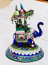 Collectible Chinese Antique 19th C Sterling Silver Enamel Figurine, RARE