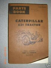 Caterpillar CAT 631 Tractor Parts Book