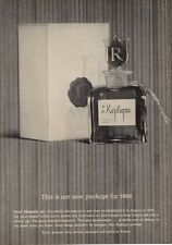 1964 Replique Rafael of Paris Perfume Vintage Bottle and Box PRINT AD