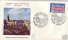 2045++ENVELOPPE 1° JOUR     ST GERMAIN DES PRES