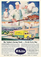 1945 White Truck Bakery - Classic Vintage Car Advertisement Ad J36