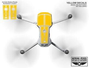 DJI Mavic Air 2 Racing Stripes With Battery Decals Number #1-3 Sticker Skin
