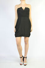 ELLERY Black Strapless Dress Size 10
