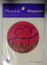 """MANDALA Refrigerator Magnet """"I EMBRACE ALL THAT I AM"""" New in Package"""