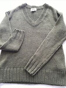Pink Brand Olive Green Sweater XS, XP