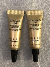 BRAND NEW Chanel Sublimage Essential Regenerating Eye Cream Travel Tube LOT OF 2