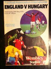 England v Hungary Friendly 24th May 1978 Football Programme