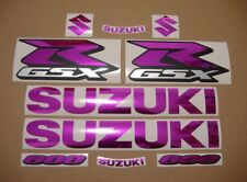 GSXR 600 chrome mirrored pink decals stickers graphics set logo gixxer srad k6