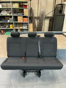 VW Transporter Kombi T5 T5.1 T6 T6.1 triple bench seat with belts and fixings