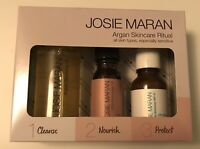 Josie Maran Skincare Ritual Pure Argan Oil Cleanse Nourish And Protect Set Seal