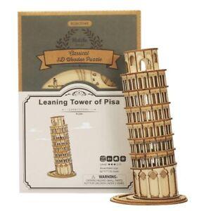 3D wooden puzzle Robotime Pisa Tower Arc de Triomphe Laser Cut DIY model kit