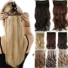 "USA CLEARANCE SALE! 17-27"" Clip In Hair Extensions half Full Head Real As Human"