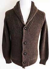 $1990 TOM FORD Thick Heavyweight Brown Shawl Collar Cardigan Sweater Size 52 EU