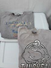 Vintage T. Michael Sweat Workout Shirt Xxl gray ( lot of 2)