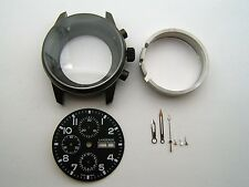 CHRONOGRAPH LANDERON CASE BLACK PVD DIAL HANDS FOR MOVEMENT VALJOUX 7750 SWISS