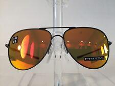 Oakley Elmont Men's Metal Aviator Sunglass 4119-1360 Satin Black-NEW! Authentic!