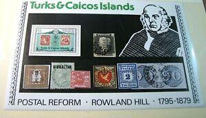 Foreign Souvenir Sheets Turks & Caicos Is. Scott# 396a Rowland Hill1979 MNH H121
