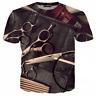 New Fashion Women/Men barber's tools 3D Print Casual T-Shirt F28