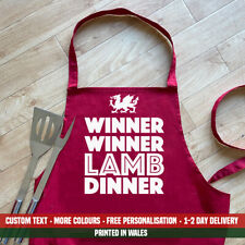 Winner Winner Lamb Dinner Apron Funny Wales Welsh Meat Fathers Day BBQ Dad Gift