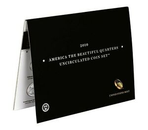 2010 P and D America the Beautiful Quarters Uncirculated US Mint 10 Coin ATB Set