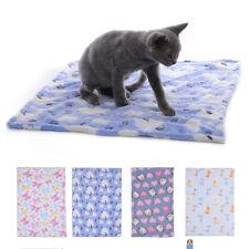 Warm Pet Mat Paw Print Cat Dog Puppy Fleece Soft Blanket Bed Cushion  Kitten NEW