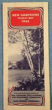 State Highway Map 1946 New Hampshire