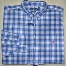 New 4XB 4XL BIG POLO RALPH LAUREN Mens button down dress shirt blue red 4X XXXXL