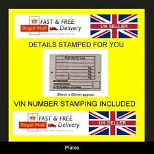 FIAT MOTOR HOME CLASSIC VETERAN VINTAGE CARS ID TAG ALL-BLANK-VIN-CHASSIS-PLATES