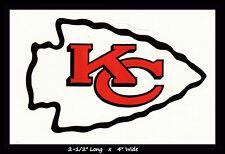 KANSAS CITY CHIEFS FOOTBALL NFL TEAM LOGO DESIGN DECAL STICKER~BOGO 25% OFF