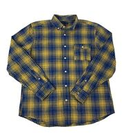 GAP Mens Size Large Blue & Yellow Long Sleeve Button Front shirt