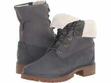 Timberland Jayne Fold-Down Prem. Leather Waterproof Women's Boots Grey A1SGI C64