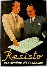 Original vintage poster RESISTO SWISS MENS SHIRTS 1940