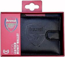 Arsenal FC RFID Anti Fraud Leather Wallet Official Accessories