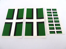 6 Devon Flag Window Stickers, Labels, 'Inside Fix Outside View'