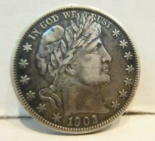 1902 Barber Half Dollar United States Silver 50 Cents Coin