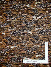 Rock Boulder Dark Brown Cotton Fabric RJR Dan Morris Danscape Summerscape - 29""