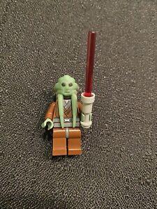 NEW LEGO STAR WARS MINIFIGURE JEDI KIT FISTO WITH LIGHTSABER MINIFIGURE