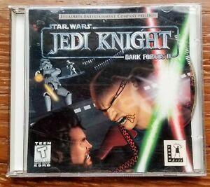 Star Wars: Jedi Knight - Dark Forces II (PC, 1997) - 2 Disc & Instruction Manual