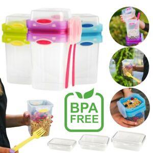 Joghurtbecher Müslibecher TO GO Deckel Lunchbox Brotdose BPA FREI Müsli Joghurt